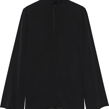Adam Lippes - Crepe turtleneck blouse
