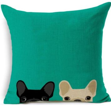 I Spy A Frenchie Pillow Cover