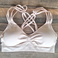 Criss Cross Strap Bra