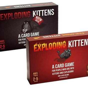 Exploding Kittens Card Game for 2-5 Players Game for Home Party Family Fun Bear Board Game