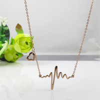heart beat necklace,heartbeat necklace,heart necklace,rose gold necklace,Clavicle,bridesmaid necklace,girlfriend ,friendship,birthday gift