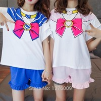 Sailor  Cosplay  Shirt  Shorts  Anime  Chibimoon  Costum