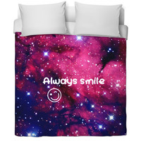 Duvet cover ((Galaxy edition; Always smile))