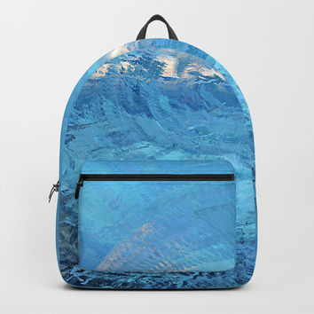 Blue Sky Abstract Backpacks by Sheila Wenzel