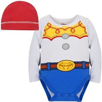 Disney Store Toy Story Jessie Onesuit Costume Bodysuit Size 0-3 Months with Hat