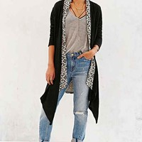 Ecote Feel The Pattern Cardigan- Black