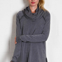 Free Flowin' Tunic Top - Charcoal