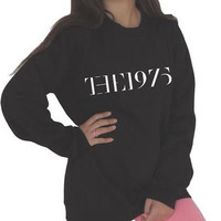 the 1975 sweatshirt black / gray Top Unisex Jumper indie rock Facedown Hipster Retro 1975's clothing  the 1975 band sweater