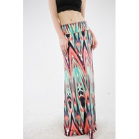Water Color Maxi Skirt