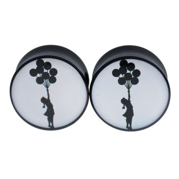 Floating Girl by Banksy Plugs