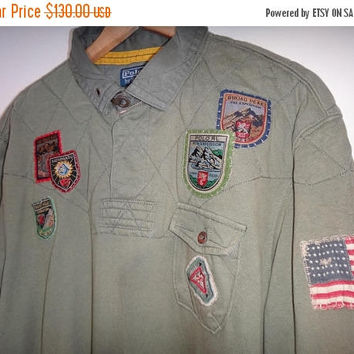 Hot sale rare Polo Ralph Lauren Polo Mountain Expedition Rugby Long Sleeve Polo Sport Mens Clothing