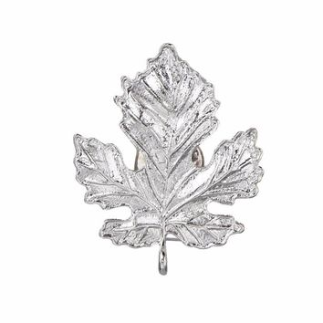 Maple Leaf Alloy Corsage Brooch