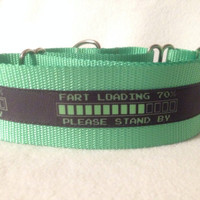 "Nylon w/Fart Loading Ribbon Martingale or Quick Release Collar Ribbon Collar 1"" Martingale 1.5"" Martingale"