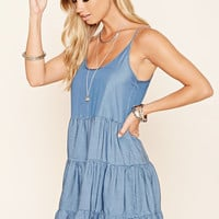 Cutout Back Smock Dress