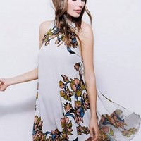 Casual Sleeveless Floral Loose Fit High Low Dress - NOVASHE.com