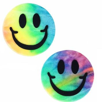 Smiley Pasties in Bubble Tie Dye Velvet