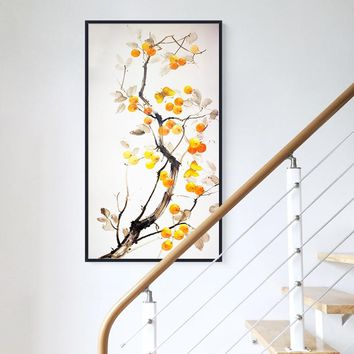 Innovative Chinese Style Trees With Birds n Flowers Canvas Painting Posters Print Wall Art Pictures For Living Room Aisle Studio