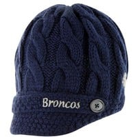 '47 Brand Denver Broncos Ladies Sky Box Knit Beanie - Navy Blue