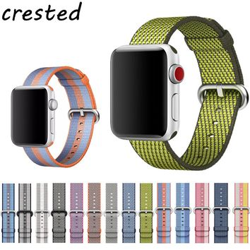 Nylon striped Apple Watch Band