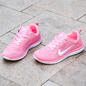 """Nike"" Fashion Breathable Sneakers Sport Shoes pink"