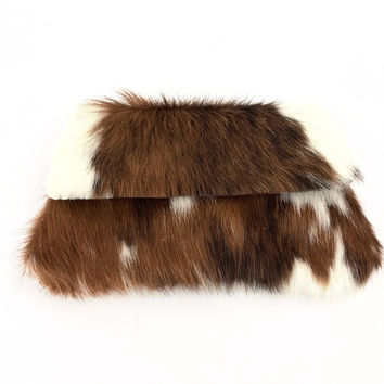 Authentic Cowhide Clutch