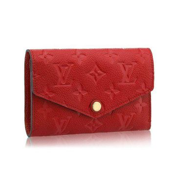 DCCKV2S Louis Vuitton Monogram Empreinte Compact Curieuse Wallets Article: M60735 Cherry