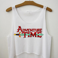 Adventure Time Characters Summer Cartoon Network Crop Top Tank Shirt Finn Jake Lumpy Space Princess LSP Gunter Princess Bubblegum