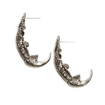 Owl Talon Earrings in Silver