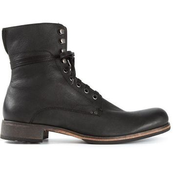 John Varvatos Lace Up Boots