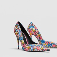 PRINTED HIGH HEEL COURT SHOES DETAILS