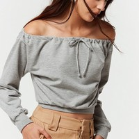 Project Social Jemma Off-the-Shoulder Sweatshirt | Urban Outfitters
