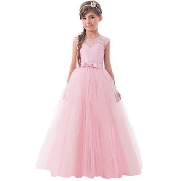 Lace Princess Dresses for Girls Clothes Tulle Children's Costume For Kids Prom Gown Designs Big Girl Teenagers Evening Dresss