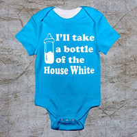 Bottle of house white baby Onesuit, baby romper,baby jumpsuit