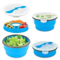 SmartPlanet Eco Collapsible Deluxe Salad Bowl Meal Kit