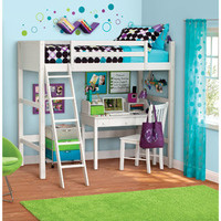 Walmart: your zone zzz collection loft bed, white