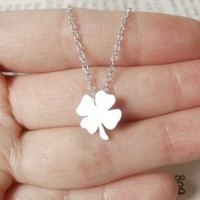 lucky, shamrock, sterling, silver, Huiyi, Tan