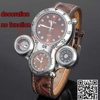 Men's watches four eyes fashion watch quartz watch compass thermometer fashion sports watches