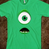 Monster inc mike wizawski big eye tee tshirt
