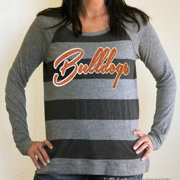 BULLDOGS Pullover, glittery sparkle eco jersey pullover, super soft, your choice of colors