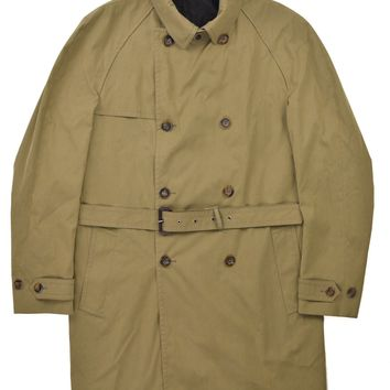 Gucci Mens Brown Cotton Blend Double Breasted Trench Coat