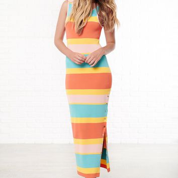 Coraline Striped Maxi Dress (Multi)
