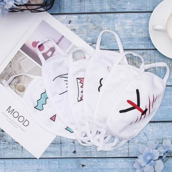 1PC Mask Bloom Bangtan Boys Winter Mouth Face Text Mask Cute  Hicken Facial Expression Text Mask