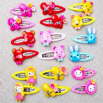 Kawaii Rabbit Hair Clips Children Animal Kids Hair Accessories Butterfly Princess Bobby Pins Baby Girls Hairpin 6 Pcs