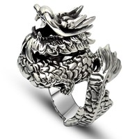 Shiny New Arrival Stylish Jewelry Gift Men Vintage Korean Silver Accessory A4 Size Ring [6526795139]
