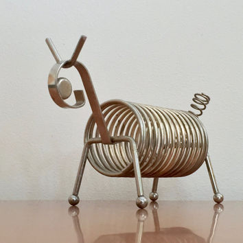 Vintage Wire Dog Desk Organizer