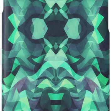 'Abstract Surreal Chaos theory in Modern poison turquoise green' iPhone-Hülle/Skin by badbugs