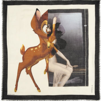 Bambi silk and wool-blend scarf   Givenchy   US   THE OUTNET