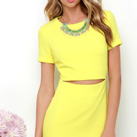 Vixen a Moment Yellow Dress