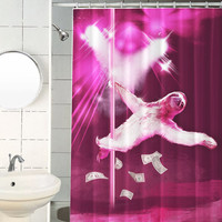 Stripper Sloth Shower Curtain, Hooks Included