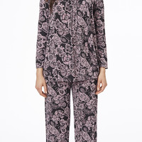 Carole Hochman Classic Moments Long Pajama - Imprinted Emblems Adult
